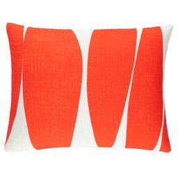 Blades Orange Indoor/Outdoor Decorative Pillow | Fresh American | Annie Selke