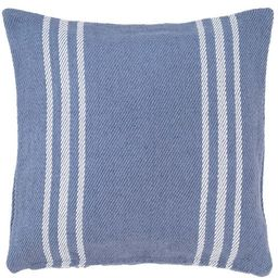 Cape Stripe Denim/White Indoor/Outdoor Pillow | Fresh American | Annie Selke