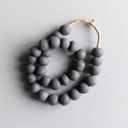Found Storm Gray Beads   McGee & Co.