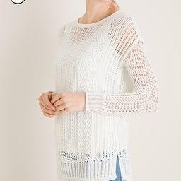 Petite Open-Stitch Pullover Sweater   Chico's