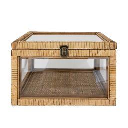 Rattan & Glass Box   McGee & Co.