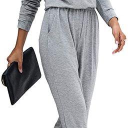 PRETTYGARDEN Women's Casual Long Sleeve Jumpsuit Crewneck One Off Shoulder Elastic Waist Stretchy...   Amazon (US)