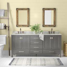 """Newtown 72"""" Double Bathroom Vanity Set   Wayfair North America"""