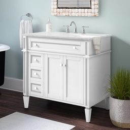 "Burkholder 36"" Single Bathroom Vanity Set | Wayfair North America"