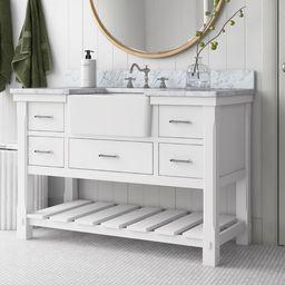 """Emiliani 48"""" Single Bathroom Vanity Set   Wayfair North America"""