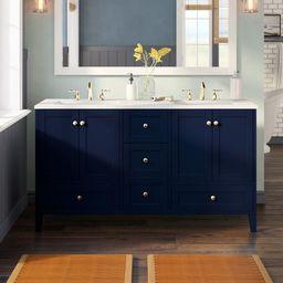 "Aleta 60"" Double Bathroom Vanity Set   Wayfair North America"