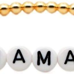 The Woo's Gold Color Ball Beaded Bracelets Brass Mama Love Letter Wrapped Bracelet Boho Handmade ... | Amazon (US)
