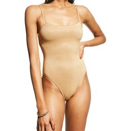 Vitamin A Jenna Bodysuit Full-Coverage One-Piece Swimsuit | Neiman Marcus