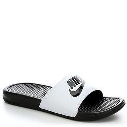 WHITE NIKE Mens Benassi Jdi Slide Sandal   Rack Room Shoes