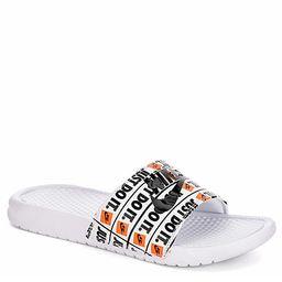 WHITE NIKE Mens Benassi Jdi Print Slide Sandal   Rack Room Shoes