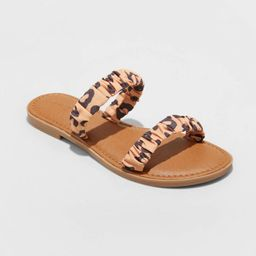 Women's Willow Two Band Scrunched Sandals - Universal Thread™   Target