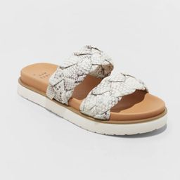 Women's Sage Braided Footbed Sandals - A New Day™   Target