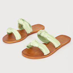 Mischa Mint Green Knotted Slide Sandals | Lulus (US)