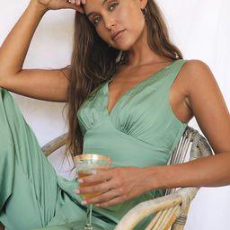 Beauty in Barbados Sage Green Satin Crop Top | Lulus (US)