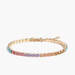 Crystal tennis bracelet   J.Crew Factory