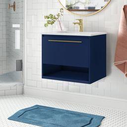 """Bryant 24"""" Wall-Mounted Single Bathroom Vanity Set   Wayfair North America"""