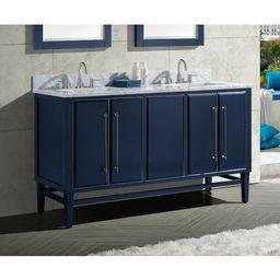 "Donahue 61"" Double Bathroom Vanity Set with Mirror | Wayfair North America"