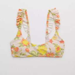 Aerie Printed Ruffle Scoop Bikini Top | American Eagle Outfitters (US & CA)