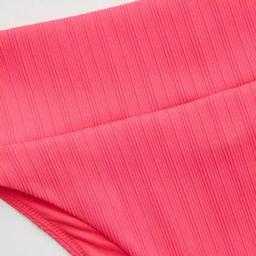 Aerie Striped Ribbed High Cut Cheeky Bikini Bottom | American Eagle Outfitters (US & CA)