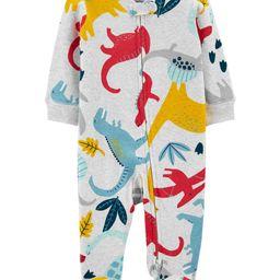 Dinosaur 2-Way Zip Cotton Sleep & Play   Carter's