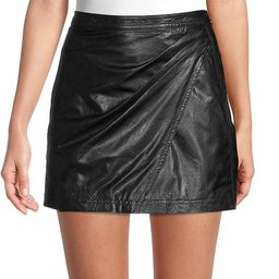 Free People Women's Fake Out Faux Leather Mini Skirt - Black - Size 0   Saks Fifth Avenue OFF 5TH