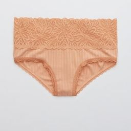 Aerie Ribbed Firework Lace Cheeky Underwear | American Eagle Outfitters (US & CA)