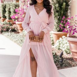 My Dearest Darling Blush Maxi Dress FINAL SALE | The Pink Lily Boutique