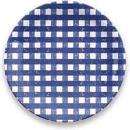 """TarHong Homemade Navy Gingham Dinner Plate, 10.5"""", Melamine, Set of 4   Amazon (US)"""