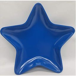 """Melamine 6"""" Solid Blue Star Appetizer Plate (12-Pack)   Amazon (US)"""