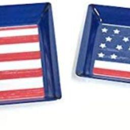 Melamine Patriotic Stars & Stripes Serving Tray, Set of 2   Amazon (US)