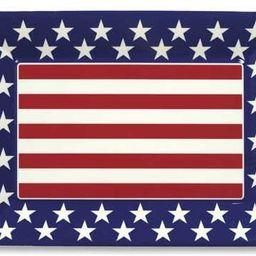 Medium Plastic Serving Tray- Red, White and Blue Patriotic   Amazon (US)