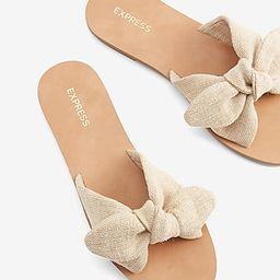 Bow Slide Sandals   Express