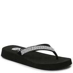 Yellow Box Allora Flip Flop - Women's - Silver Metallic/Black | DSW