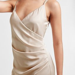 Ruched Side Wrap Mini Dress   Express