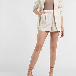 High Waisted Soft Clean Shorts   Express