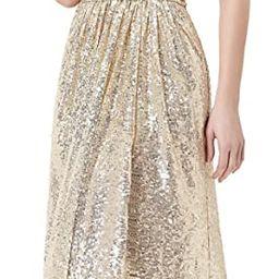 Kate Kasin Women Sequin Bridesmaid Dress Sleeveless Maxi Evening Prom Dresses   Amazon (US)
