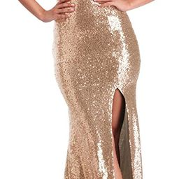 YSMei Women's Off Shoulder Sequins Evening Dress Split Mermaid Prom Gown Ypm464   Amazon (US)