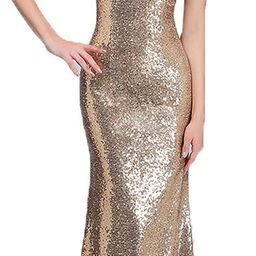 honey qiao Sequins Off The Shoulder Bridesmaid Dresses Long Pleats Prom Party Gowns   Amazon (US)