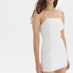 Eggie UO Exclusive Ava Side-Smocked Mini Dress | Urban Outfitters (US and RoW)