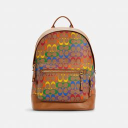 West Backpack in Rainbow Signature Canvas   Coach Outlet