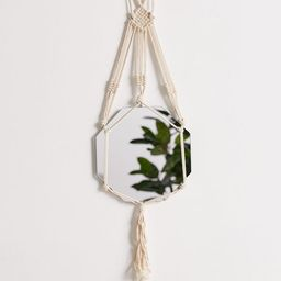 Macramé Sling Hanging Wall Mirror   Urban Outfitters (US and RoW)