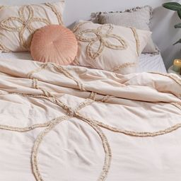 Stassia Feathered Trim Duvet Cover   Urban Outfitters (US and RoW)