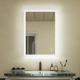 Amis Modern Frameless Lighted Bathroom Mirror   Wayfair North America