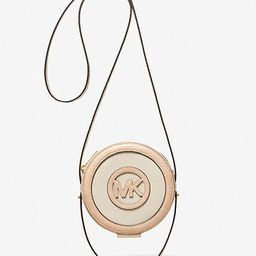 Aidy Small Canvas and Crocodile Embossed Canteen Crossbody Bag | Michael Kors (US & CA)