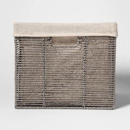 """14.75 x13 x11"""" Large Lined Milk Crate Gray - Threshold™   Target"""