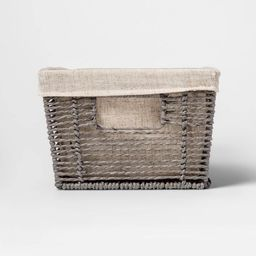"""16x9x6"""" Twisted Paper Rope Media Basket Gray - Threshold™ 
