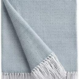 Bourina Decorative Diamond Lattice Faux Cashmere Fringe Throw Blanket Lightweight Soft Cozy for B... | Amazon (US)