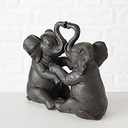 WHW Whole House Worlds Playful Pachyderms, Decorative Elephant Sculpture, Bronze Tone, 6 1/4 Inch... | Amazon (US)
