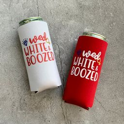 Wed White & Boozed Bachelorette Party or Wedding Slim Seltzer Can Coolers 4th of July   Etsy (US)