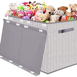 Kids Toy Box Chest Storage with Flip-Top Lid - Collapsible Toys Boxes Bin Organizer for Nursery, ... | Amazon (US)
